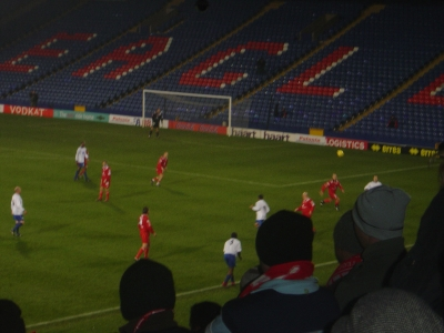 A pic of the match on a FREEZING day.